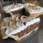 Mocha Nut Fudge Vegan Gelato Pie Close